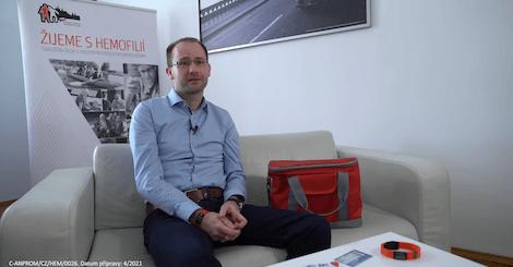 Rozhovor s předsedou ČSH (Český svaz hemofiliků), Martinem Bohůnem - video